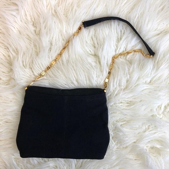 Paloma Picasso Handbags - Vintage PALOMA PICASSO Italian black gold purse X